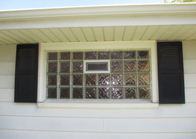 Glass Block with Shutters